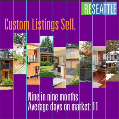 Selling a home with custom listing