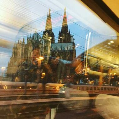 My Germany Journey - Cologne Cathedral from the train