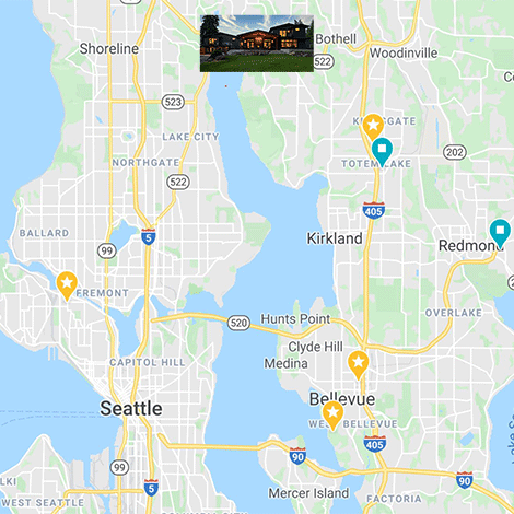 Bothell Bellevue Seattle map
