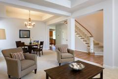 Redmond Ridge home sale living & dining areas