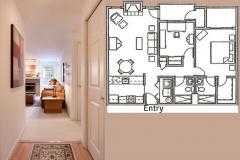 Seattle Maple Leaf Condo Floorplan Entry