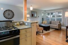 West Bellevue home for sale-kitchen-living