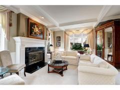 West Bellevue luxury home for sale living room