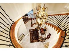 West Bellevue luxury home for sale down staircase